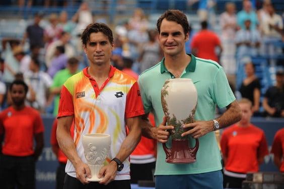 David Ferrer finalista junto al campeón Roger Federer