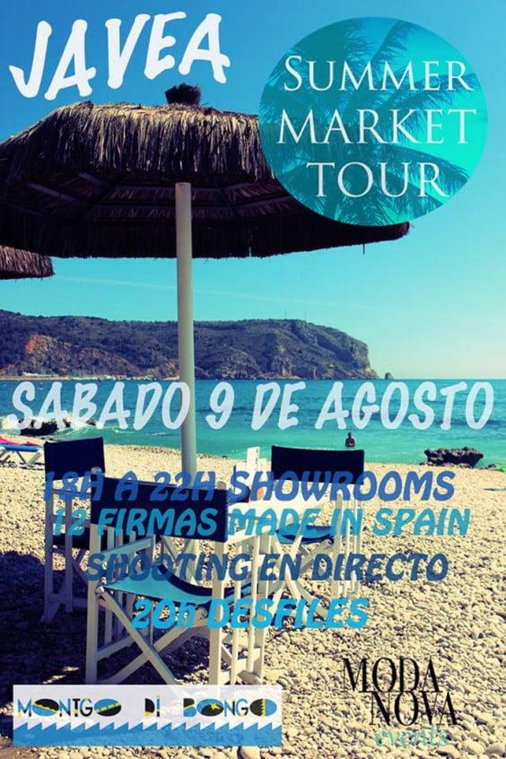 El Summer Market Tour llegará a Jávea el 9 de agosto en el Montgo Di Bongo