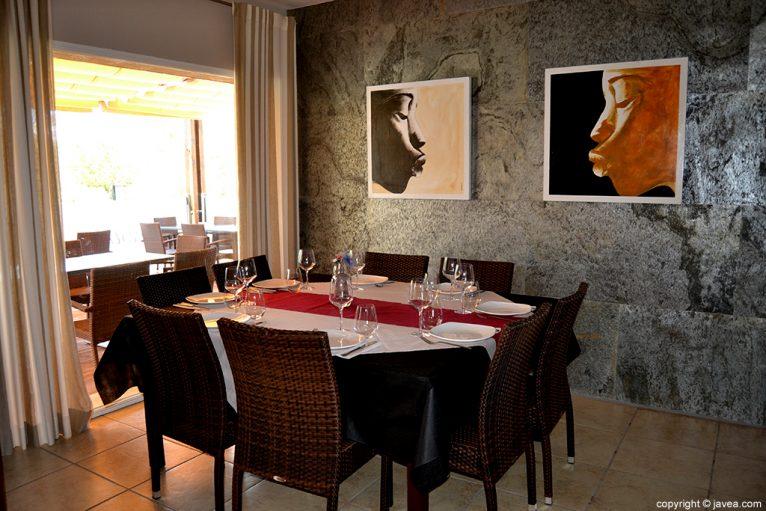 Espacio interior del Restaurante Nesfor en Jávea