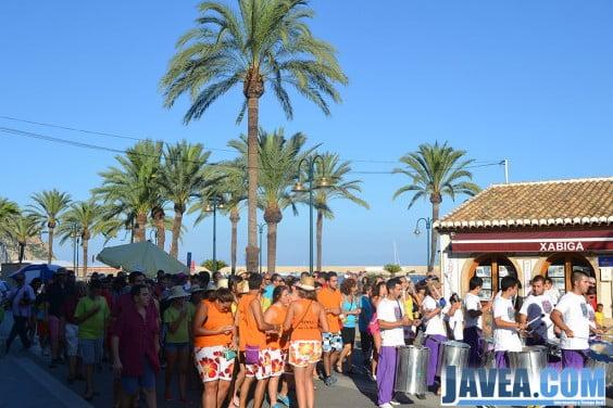 Peñas de Aduanas del Mar durante la celebración del día de las peñas