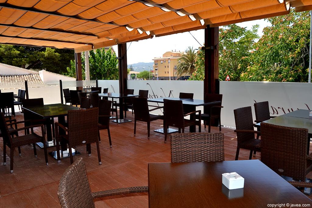 Terraza del Restaurante Nesfor en Xàbia