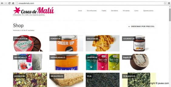 Captura de pantalla página web Cosas de Malú