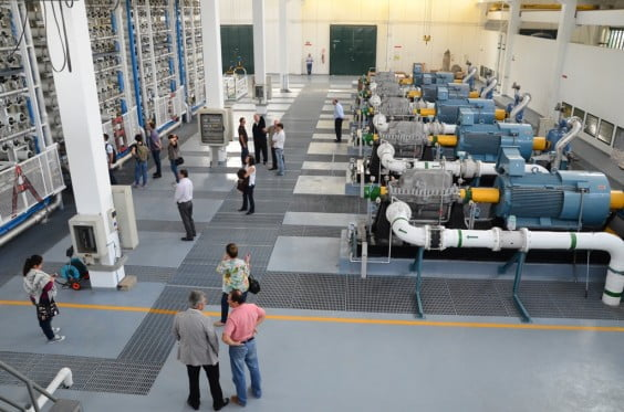 Visita a la desalinizadora delegación brasileña
