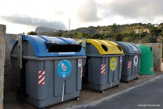 Punto verde de reciclaje