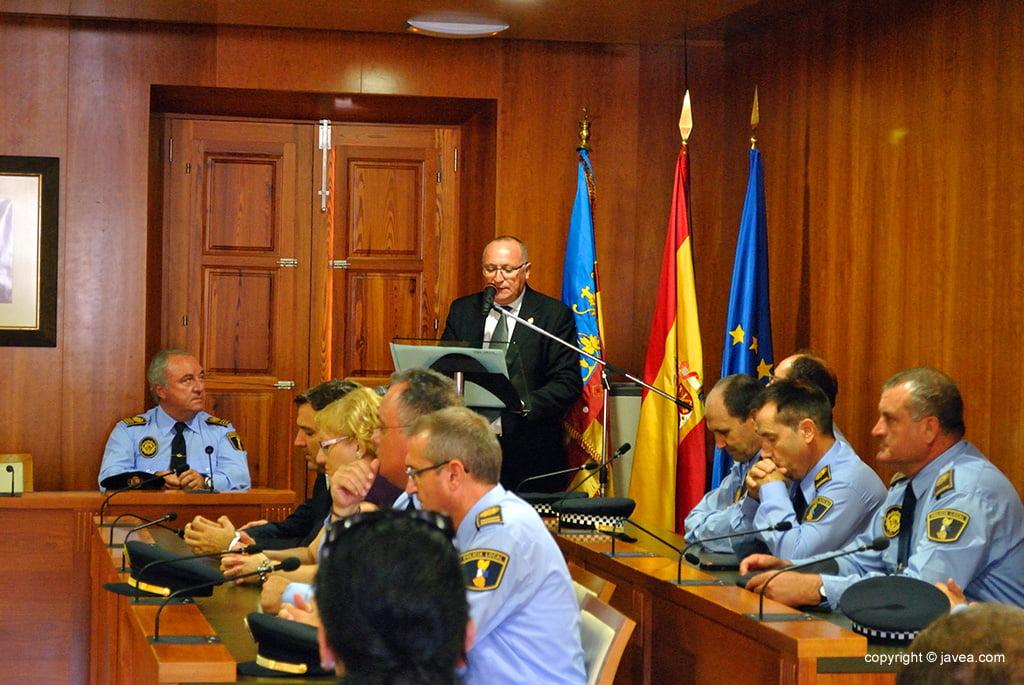 Juan Ortolá durante su discurso