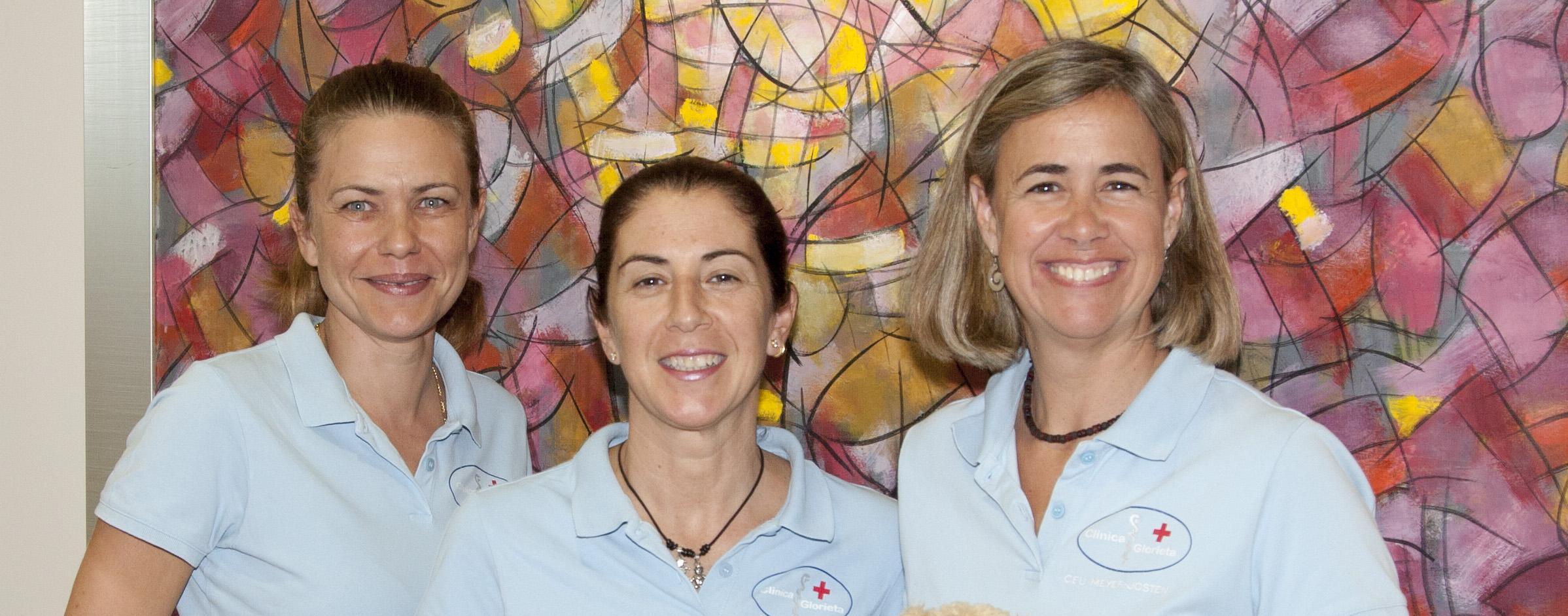 Enfermeras de la Clínica Glorieta