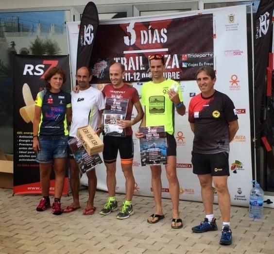 Ignacio Cardona en el podium de Ibiza