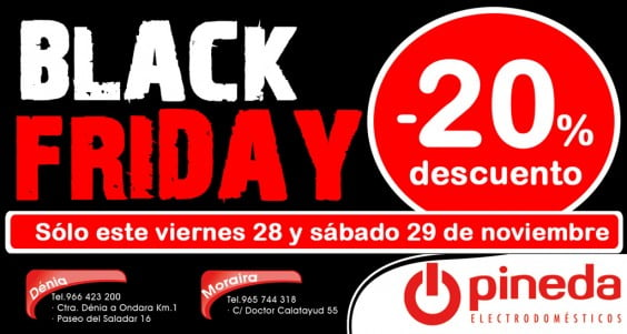 Black Friday Electrodomèstics Pineda