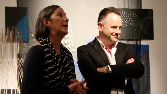 Empar Bolufer, regidora de Cultura i Juan Carlos Signes