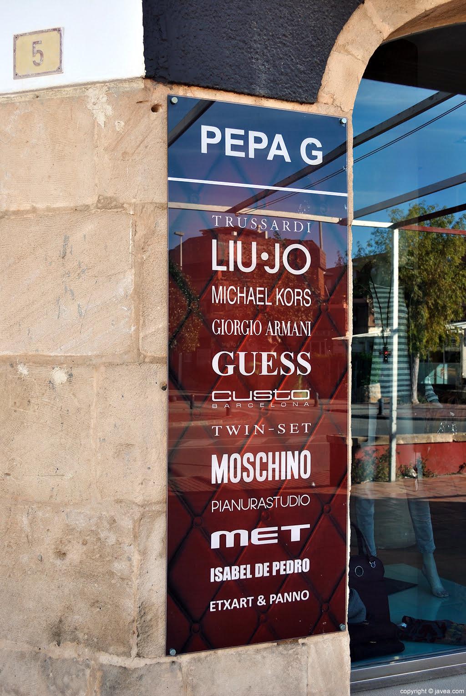 Las mejores marcas en Pepa G