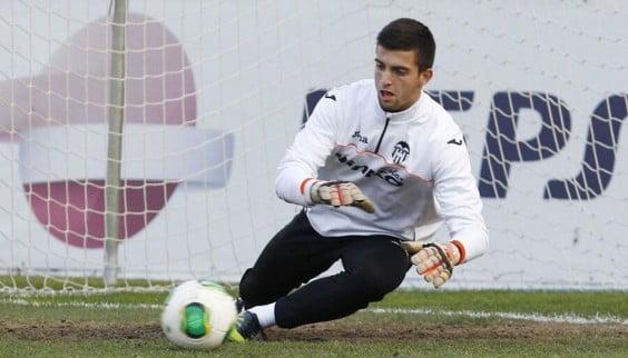 Antonio Sivera portero del Valencia CF.