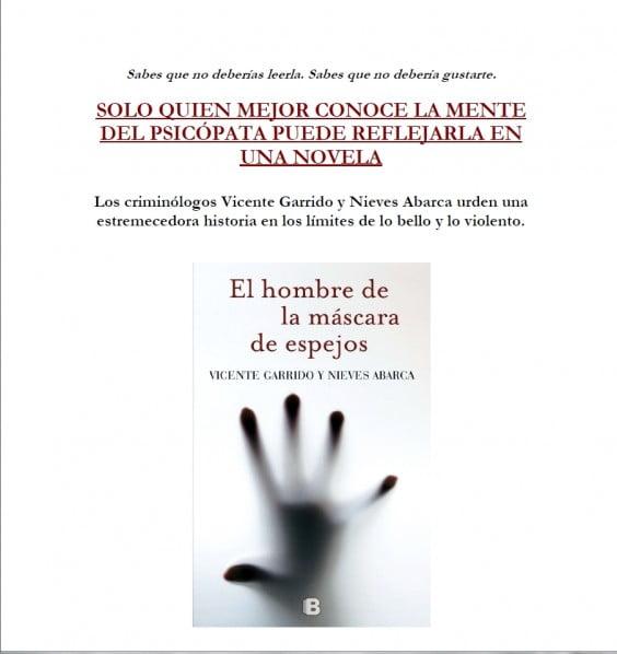 Presentación novela Vicente Garrido