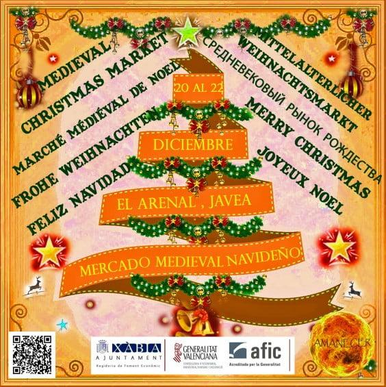 Cartel I Feria de Navidad en el Arenal de Jávea