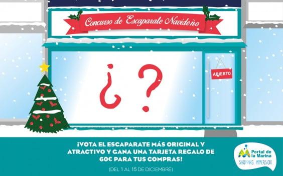 Propaganda concurso escaparates navideños Portal de La Marina