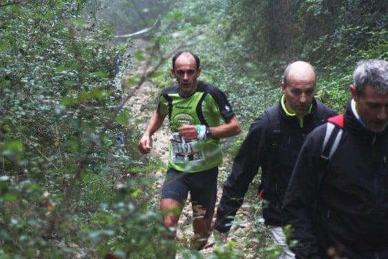Ignacio Cardona en una prueba de kilómetro Vertical