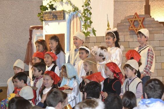 Los niños de Catecismo interpretaron villancicos