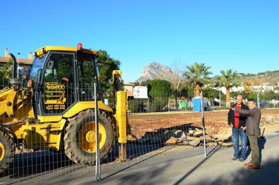 Ya han dado inicio las obras en la Avenida Augusta
