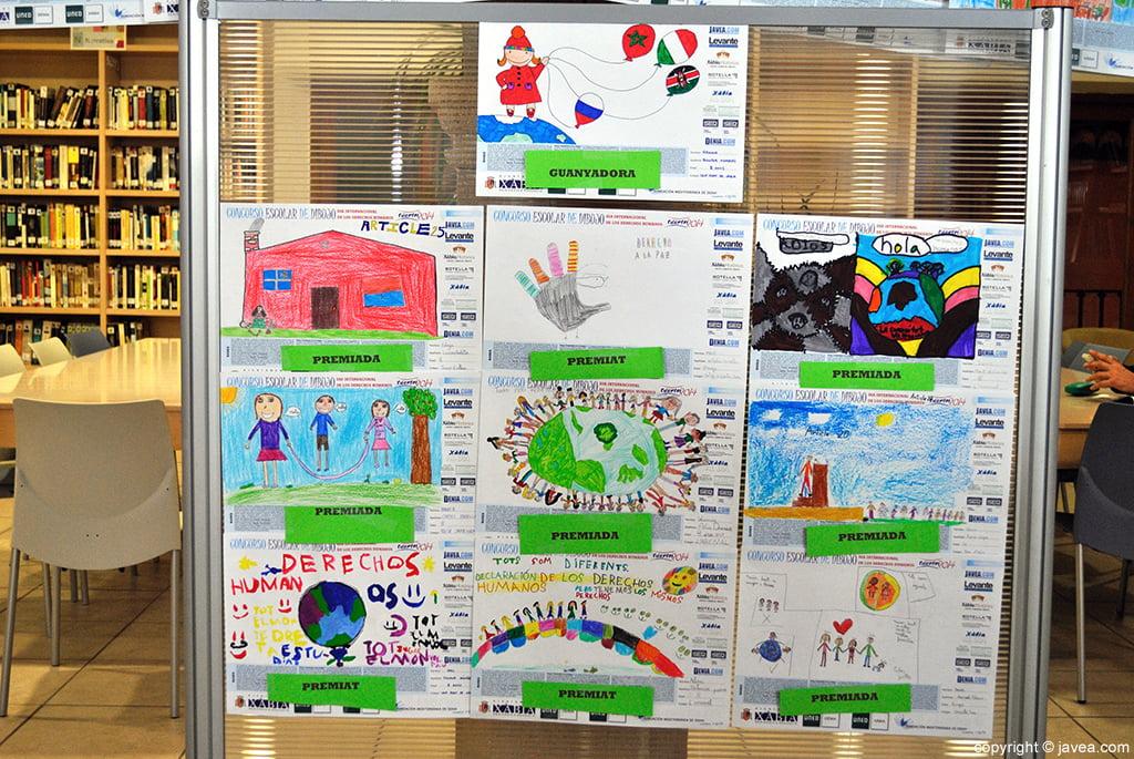 Los dibujos ganadores en el concurso
