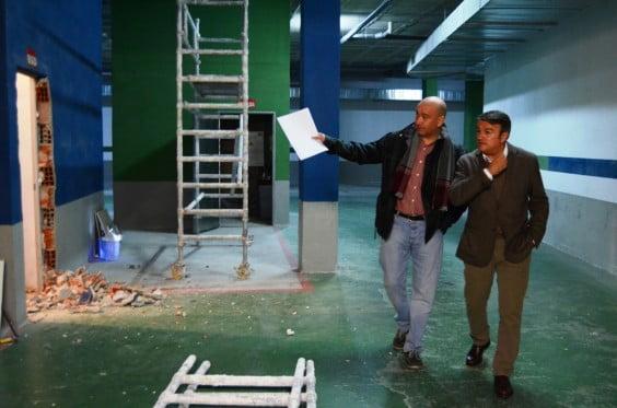 José Chulvi y Paco Torres visitaron los bajos del nuevo ayuntamiento