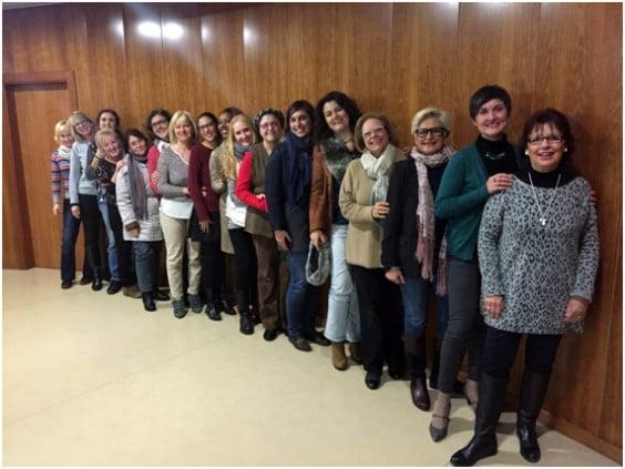 La junta directiva de Mujeres Emprendedoras de Jávea (MEJ)