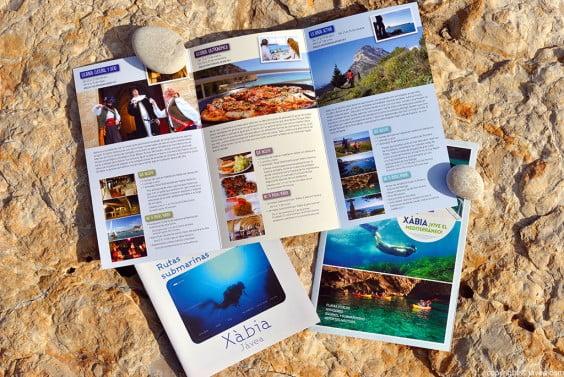 Las escapadas de la nueva campaña turística aparecen en un folleto