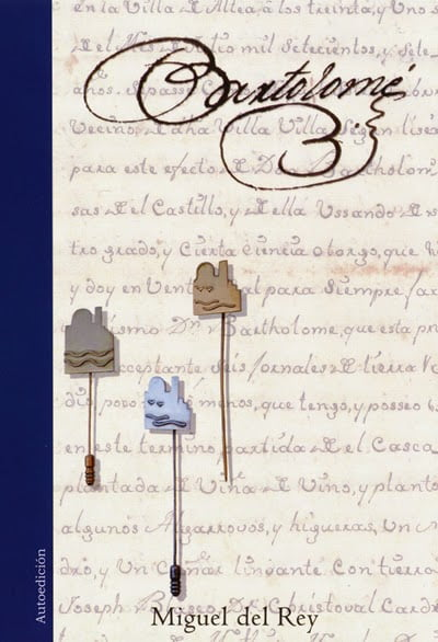 Portada del libro Bartolomé que se presentará en Xàbia
