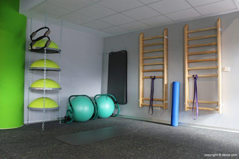 Zona estiramientos Centro Deportivo Denia