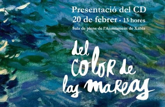 Cartel presentación del CD Del Color de las Mareas