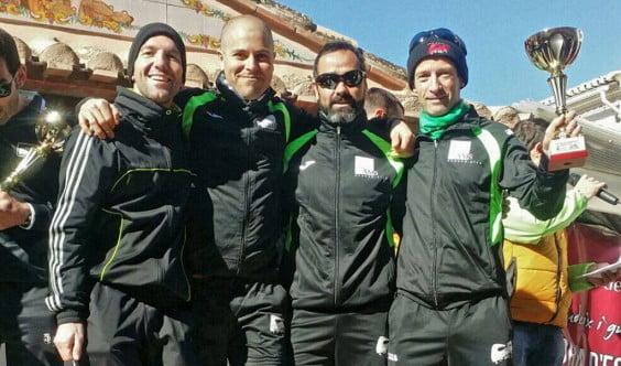 Equipo del Club Atletismo Llebeig en la Mitja Marató de l´Ocaive