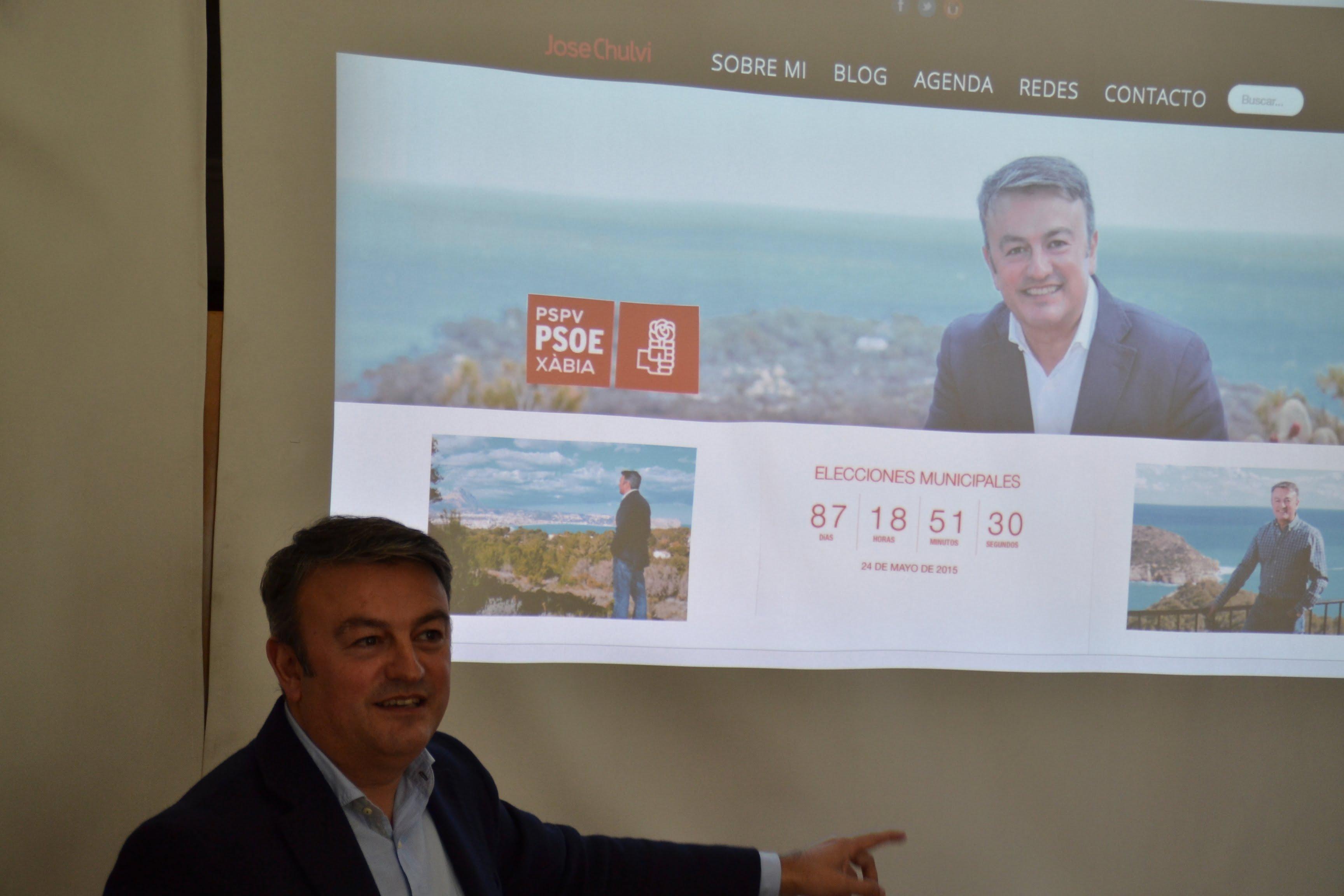 José Chulvi presentando su blog
