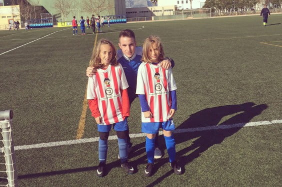 Rubén Ortola junto a Alba y Andrea