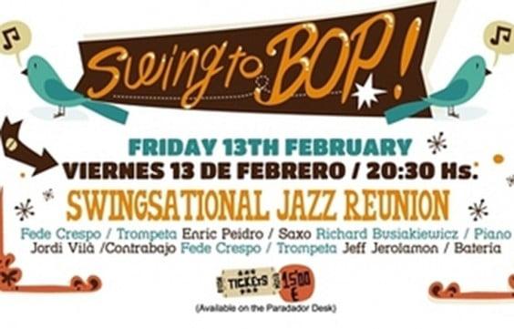 Cartel anunciador del Swing To Bop