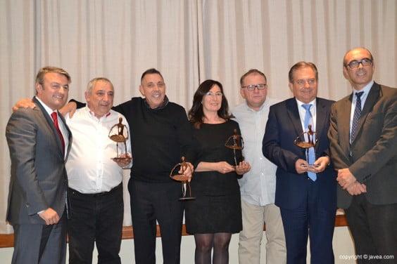 José Chulvi con todos los galardonados