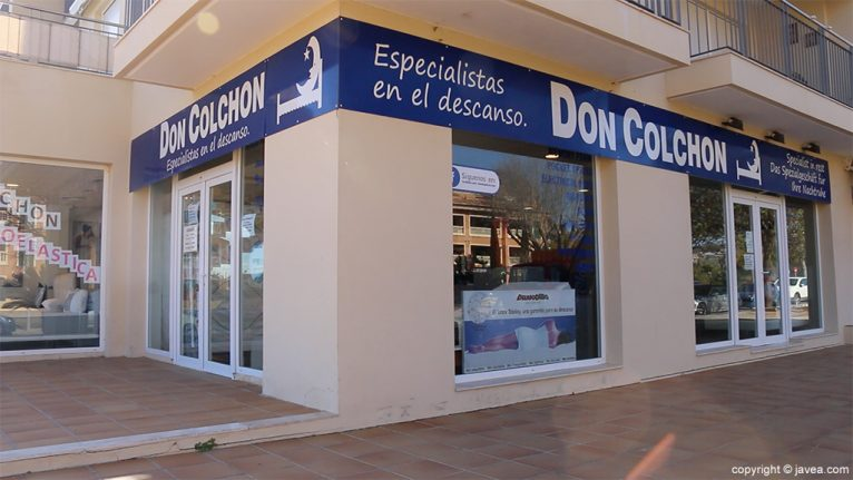 Exterior botiga Xàbia Don Matalàs