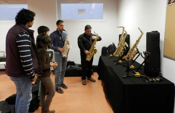 Grupo de alumnos del Conservatori Professional de Música