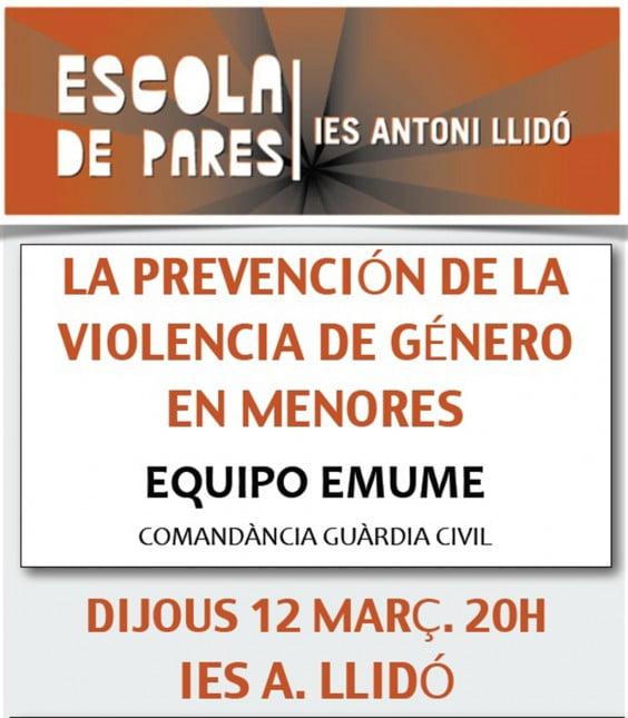 Cartel Conferencia en el IES Antoni Llidó