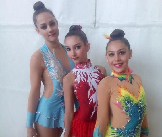 Paula Campoy, Llucía Buigues y Valentina Rodríguez
