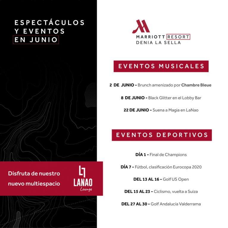 Eventos verano Hotel Dénia Marriott La Sella Golf Resort & Spa
