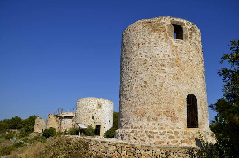 Molins de Xàbia en plena restauración