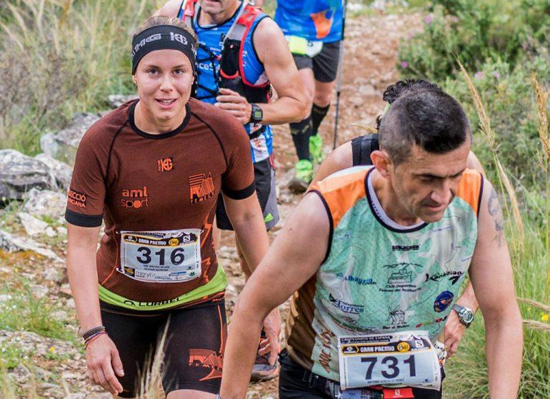 Aine Sentous en el Nacional de carreras de montaña