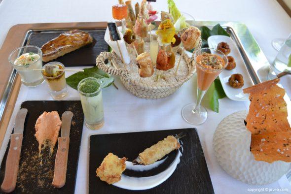Aperitivos del menú Mediterráneo