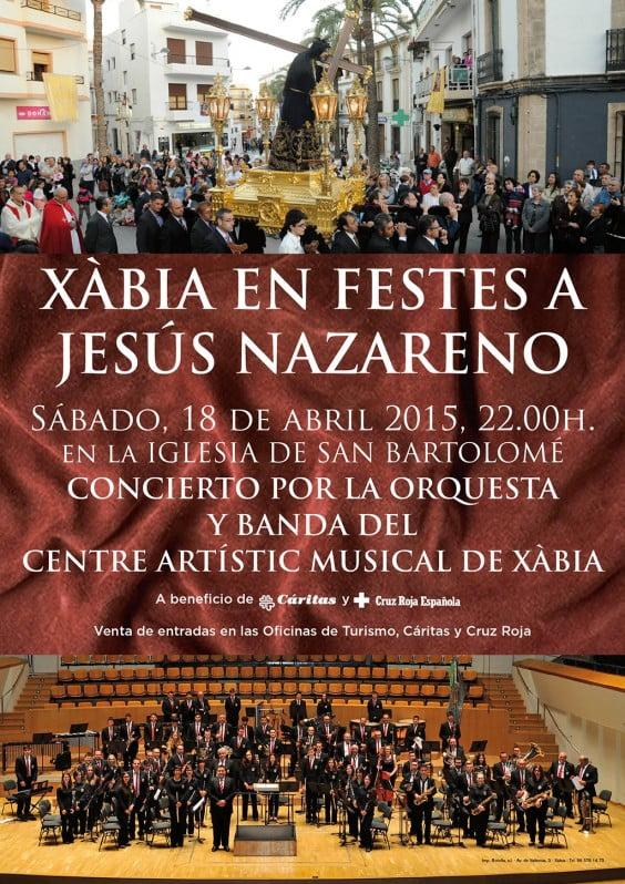 Cartel CAM concierto Naz. 15