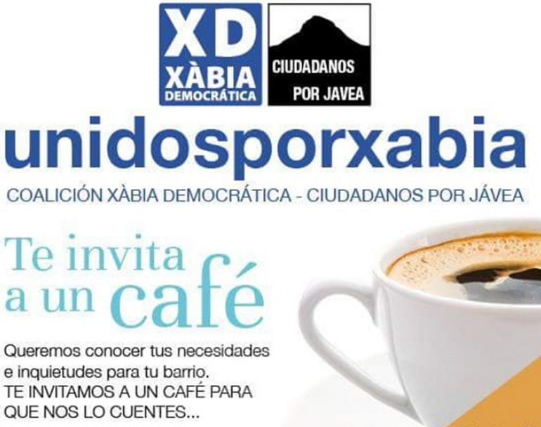 Cartel de XD-CpJ te invitamos a un café