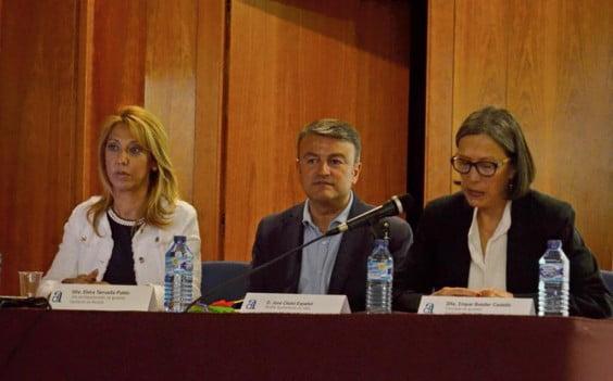 Elvira Tarruella junto a Chulvi y Empar Bolufer