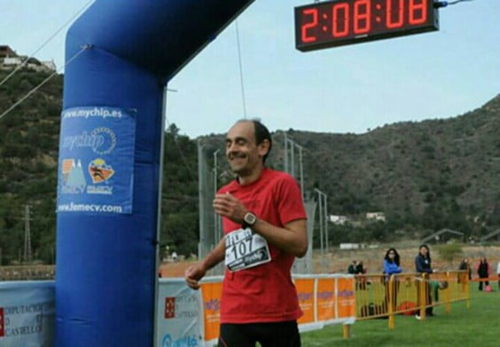 Ignacio Cardona entrando en meta