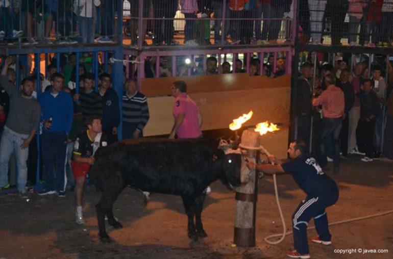 Toro embolado en Jávea