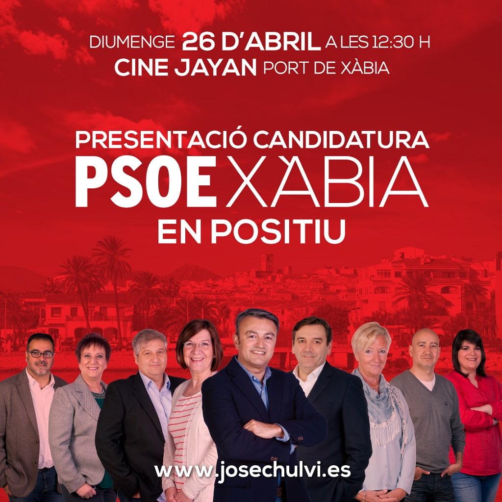 cartel presentación PSOE