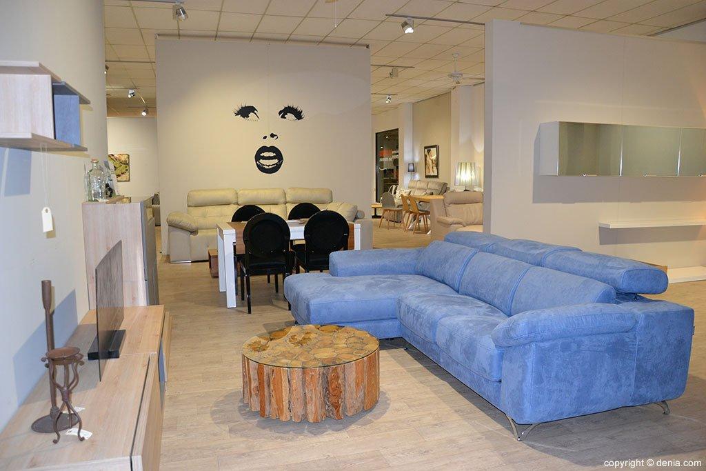Saló sofà blau Mobles Martínez