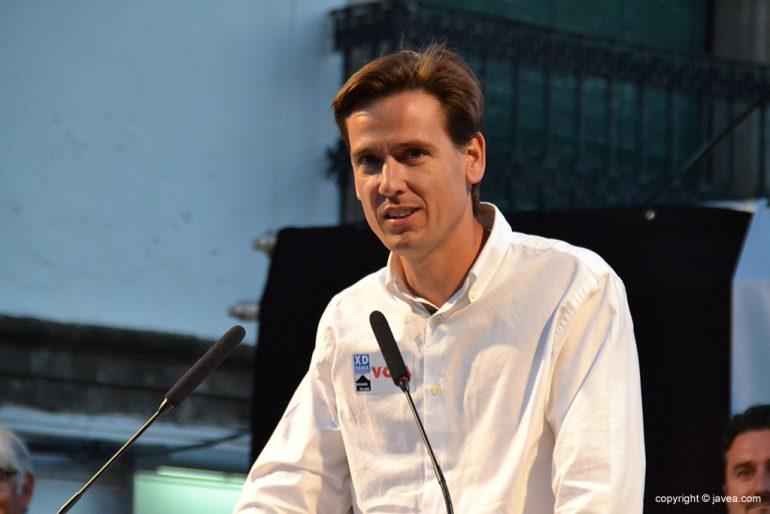 Óscar Antón candidato a la alcaldía de Jávea por XD-CpJ.