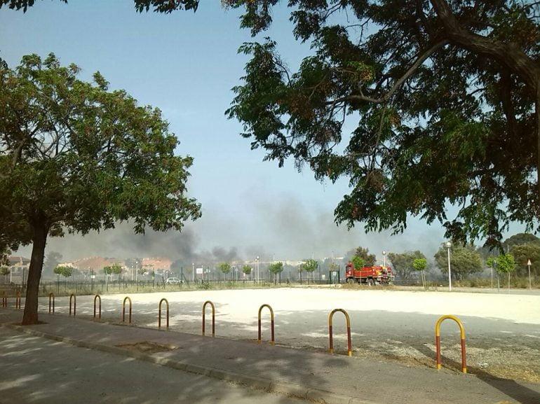 Autobomba de bomberos en Jávea